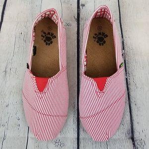 DAWGS | striped Kaymann canvas slip on loafer